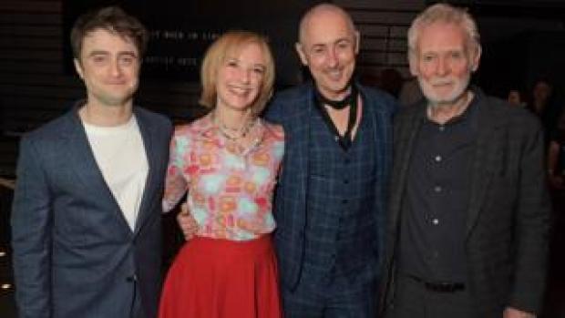 Endgame cast (left-right): Daniel Radcliffe, Jane Horrocks, Alan Cumming and Karl Johnson