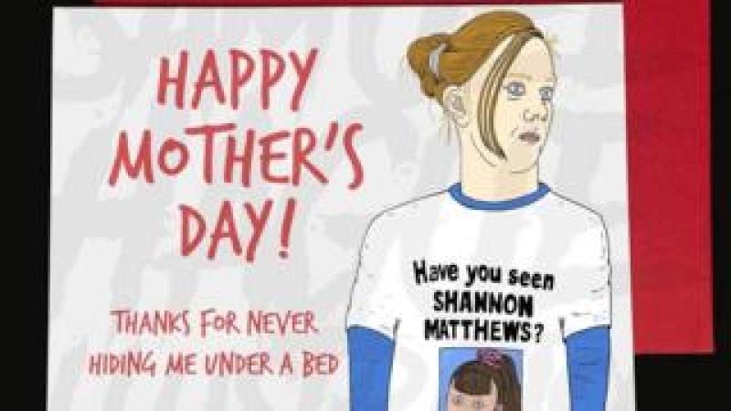 A Mother's Day card depicting Karen Matthews