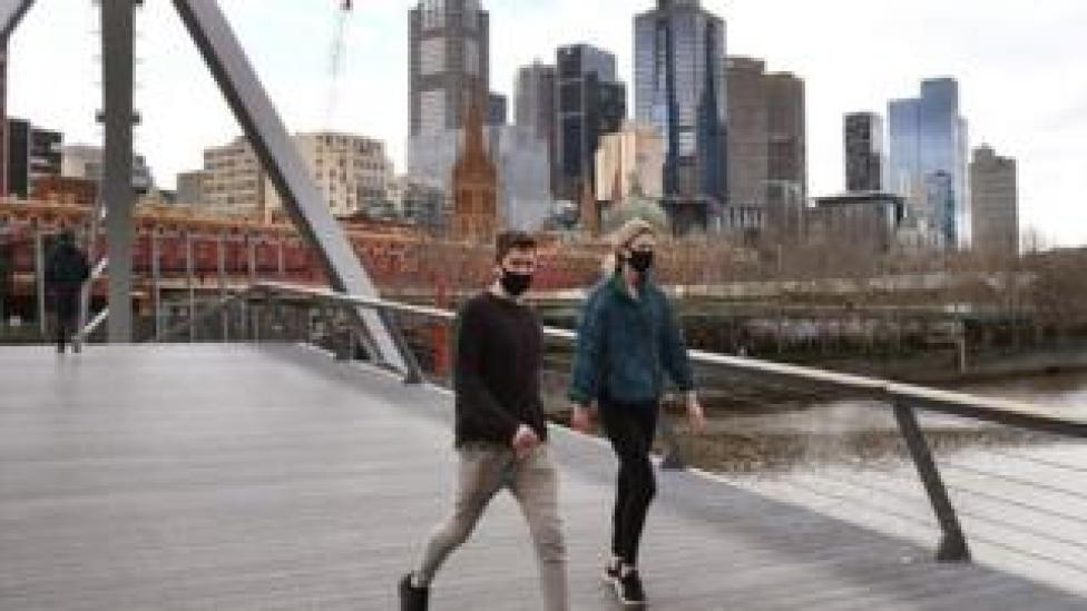 Melbourne Yarra River view, 12 Aug 20