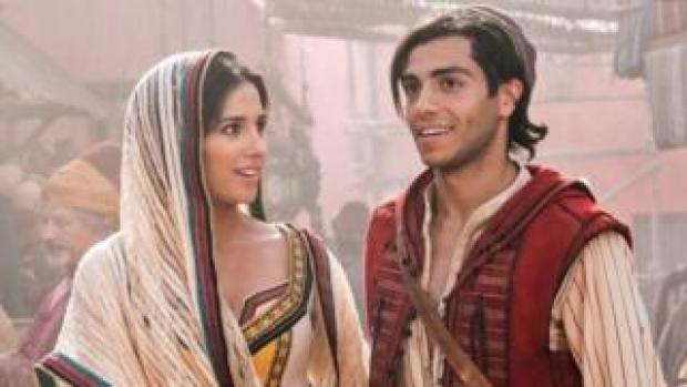 Aladdin stars Naomi Scott and Mena Massou