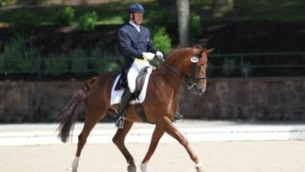 Michael Barisone riding at US Dressage festival in 2014
