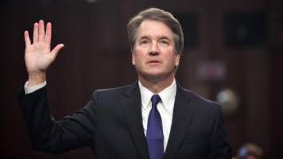 NEWS In this file photo taken on September 4, 2018 Judge Brett Kavanaugh is sworn in during his US Senate Judiciary Committee confirmation hearing