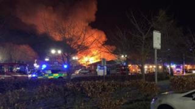 The fire at the George Bryant Centre