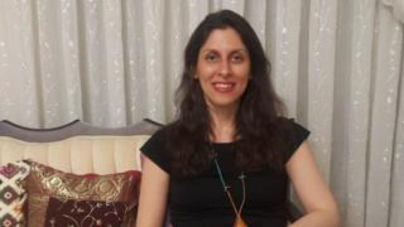File photo dated 17/03/2020 of Nazanin Zaghari-Ratcliffe, a British-Iranian dual national who is detained in Iran sitting on a sofa in front of a background of curtains