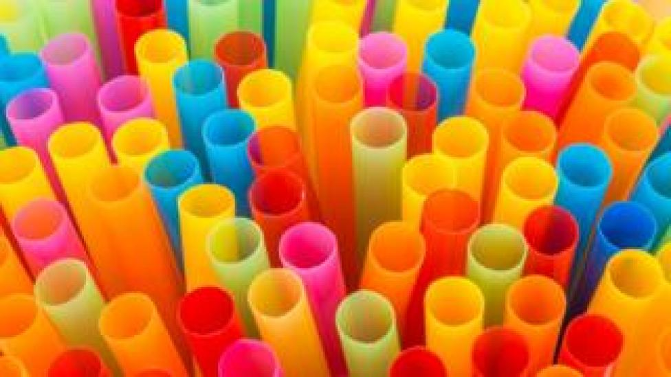 A collection of colorful straws
