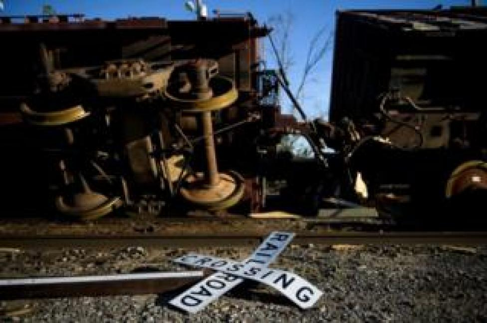 NEWS A train in Panama City, Florida was flipped onto its side