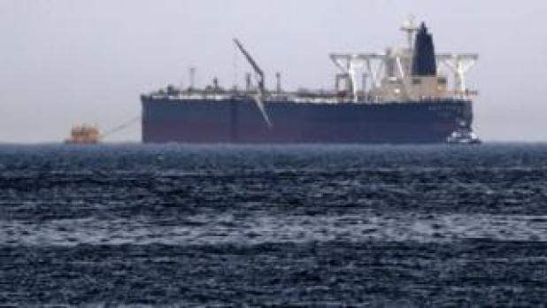 """Crude oil tanker, Amjad, which was one of two reported tankers that were damaged in mysterious """"sabotage attacks"""""""