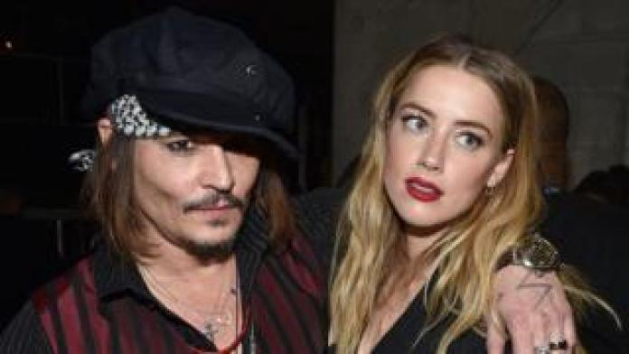 Nation breaking news Johnny Depp and Amber Heard at The Grammys