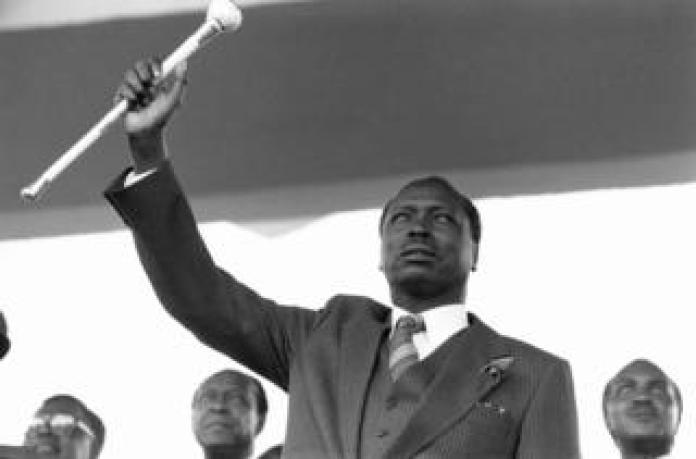 Inauguration of Daniel arap Moi as Kenyan President in 1978