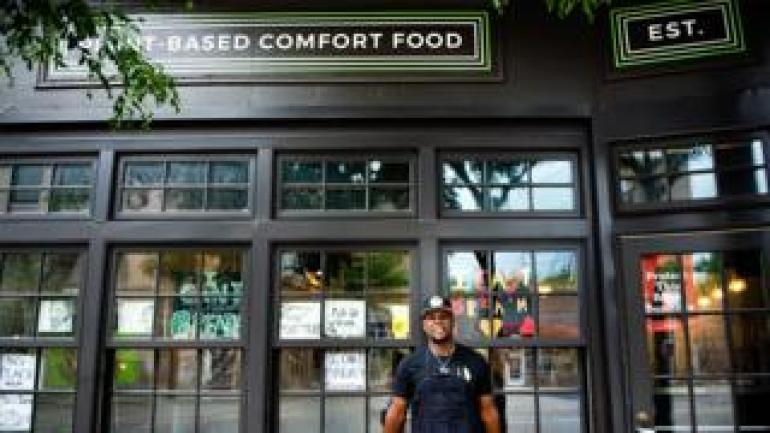 Louis Hunter, owner of Trio Plant-Based
