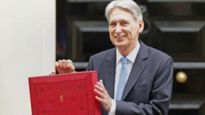 Chancellor Philip Hammond with red box