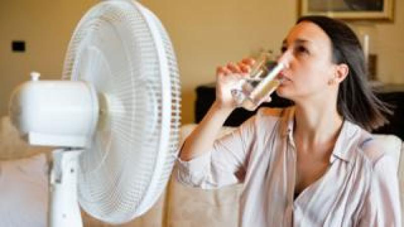 Fan in a heatwave