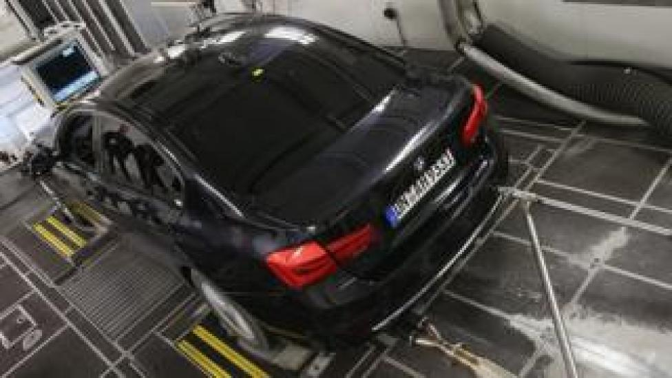Emissions testing in Germany, file pic