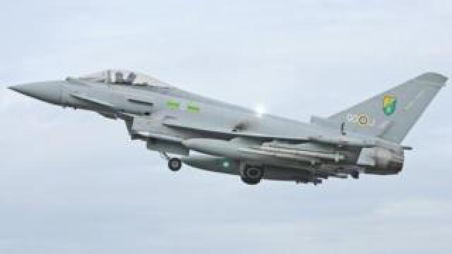 Typhoon fighter jet
