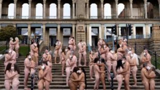 Everyone Together by Spencer Tunick