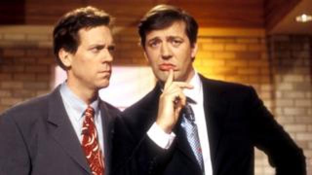 Hugh Laurie and Stephen Fry in A Bit of Fry & Laurie