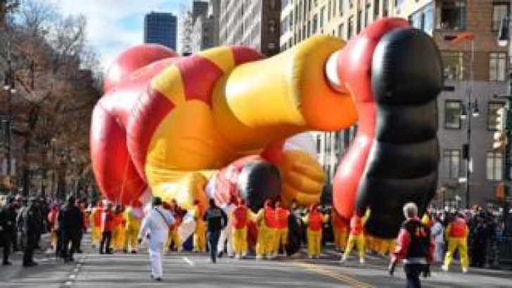 Ronald McDonald balloon at the Macy's Parade