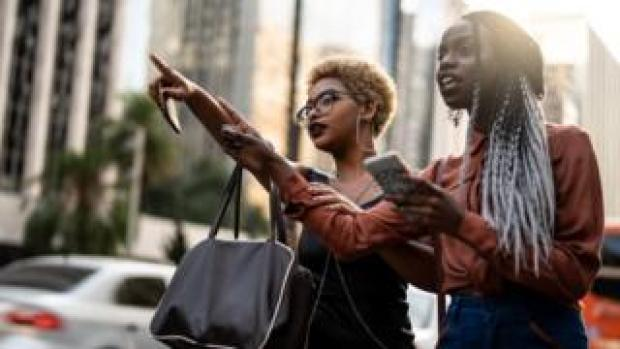 Women looking for rideshare