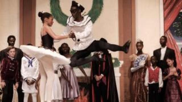 Members of the Dance Centre Kenya (DCK) perform during the production of The Nutcracker at the National Theatre in Nairobi, Kenya - Saturday 1 December 2018
