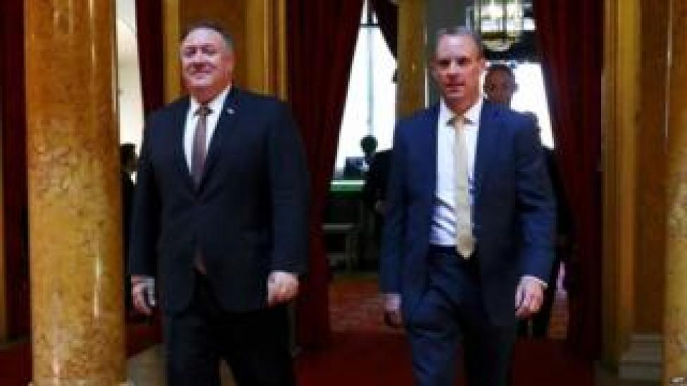 Mike Pompeo and Dominic Raab