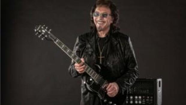 Tony Iommi with guitar