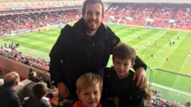 Dan, Liam and George Humphries at Bristol City