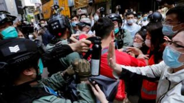 protest in HK, 27 May