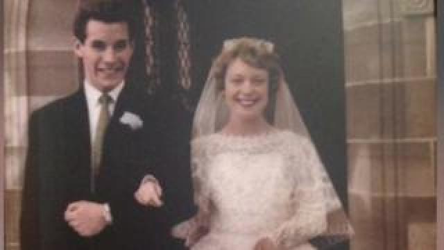 Mavis and Dennis Eccleston on their wedding day