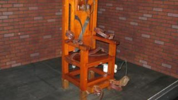 A decommissioned electric chair in Texas