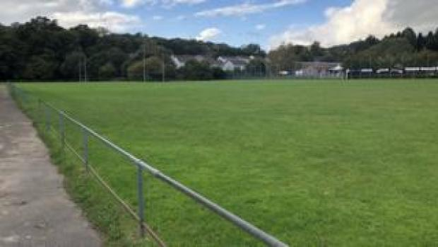 The first pitch at Trinity Fields, used by Penallta RFC first team