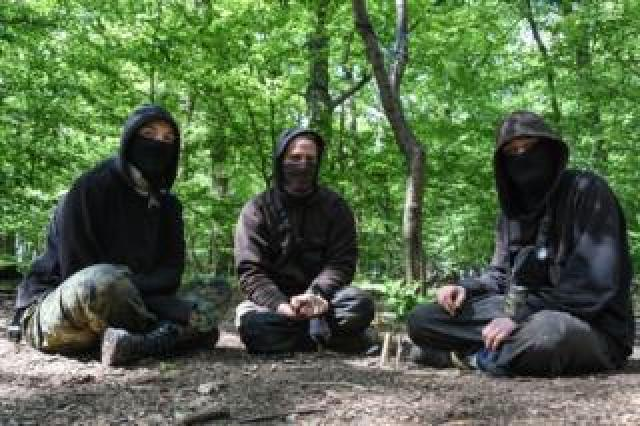 Climate change activists in the Hambacher Forest