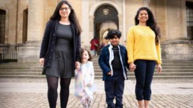 Emily, Beth, Jithu and Aswathy