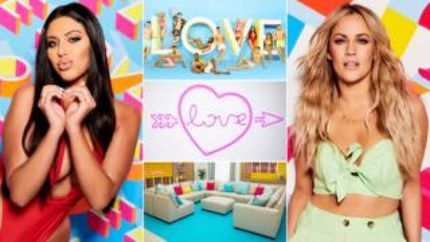 Caroline Flack and this year's Love Island contestants