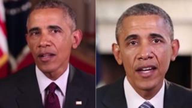 A composite image of former US President Barack Obama.