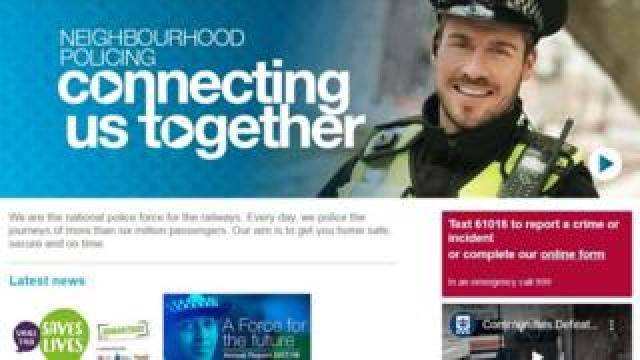 Screengrab of the British Transport Police website