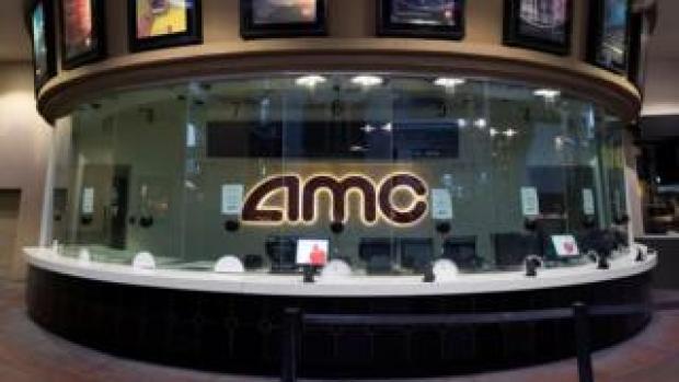 An empty AMC movie theatre