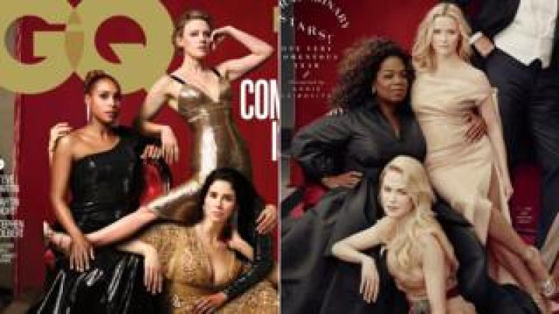 GQ and Vanity Fair's covers