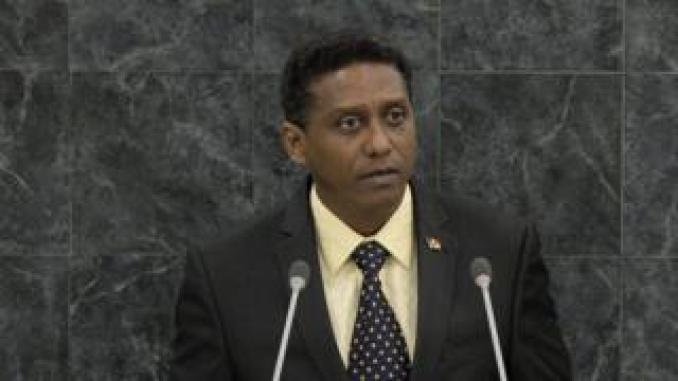 An image of Danny Faure, president of Seychelles