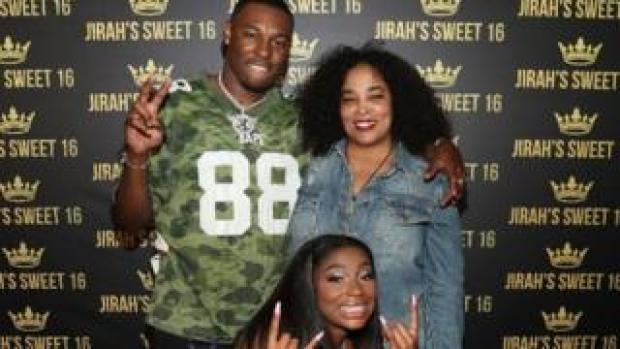 Josie Harris, right, with her daughter Jirah Mayweather and rapper Kalan.FrFr last year