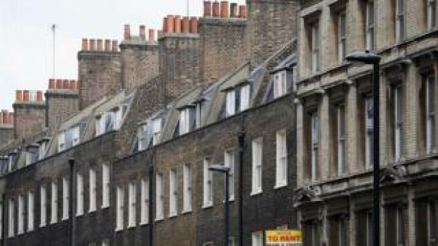 row of terraced Victorian homes