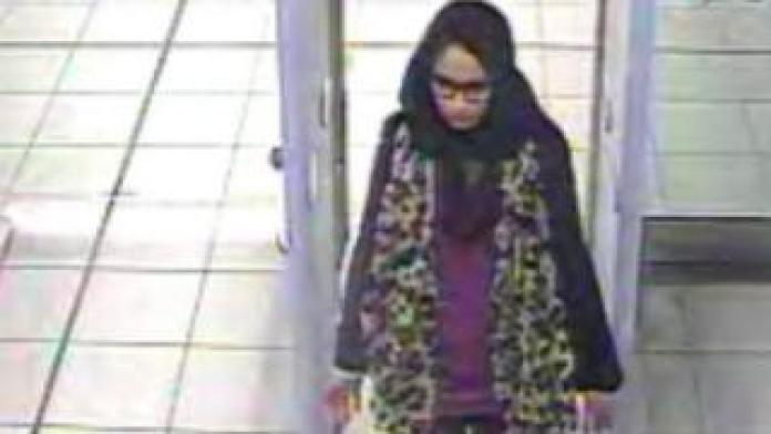 CCTV from Shamima Begum at Gatwick Airport in February 2015