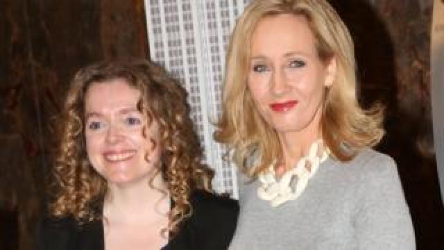 Georgette Mulheir and JK Rowling