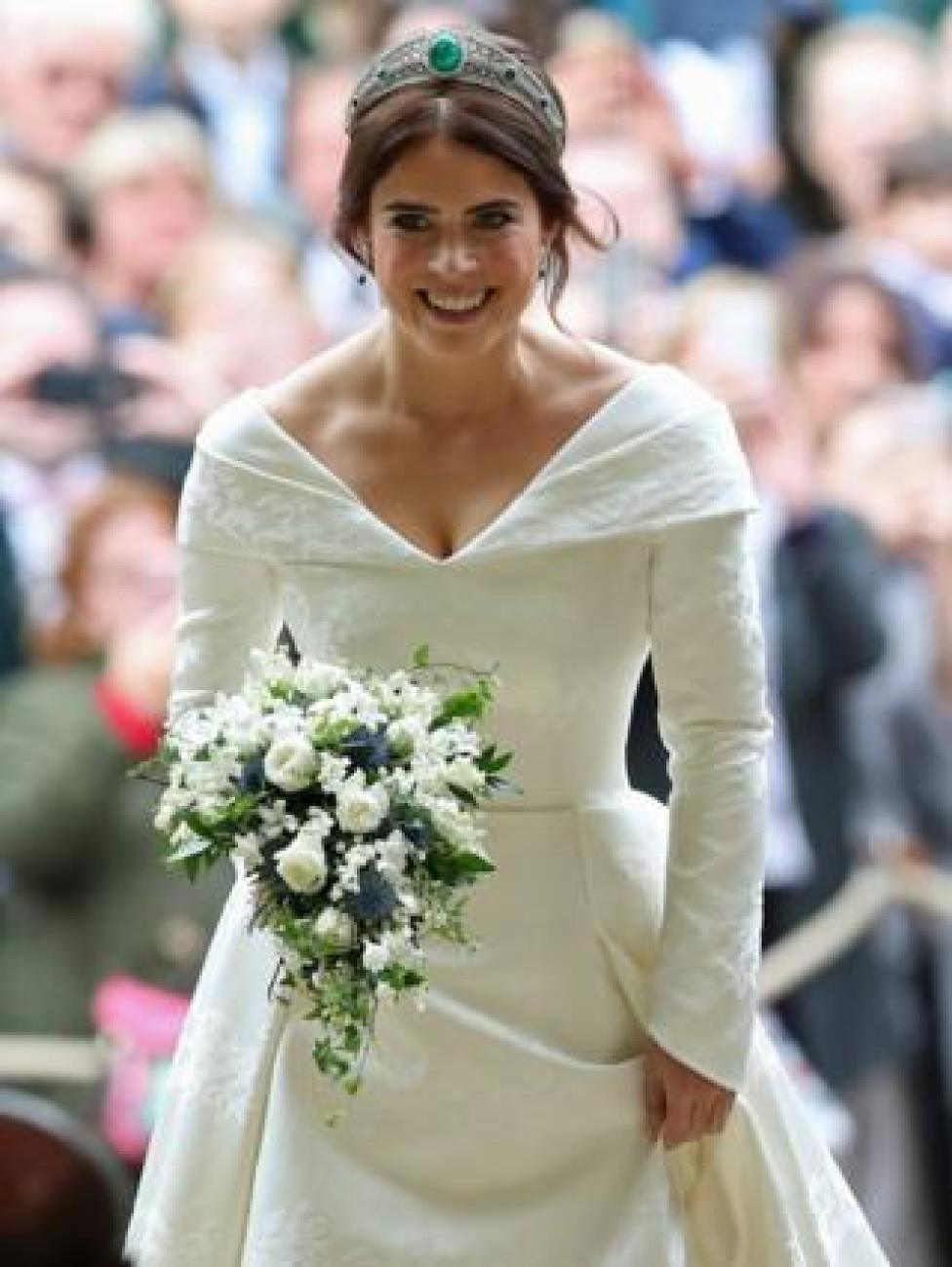 NEWS Princess Eugenie arrives for her wedding
