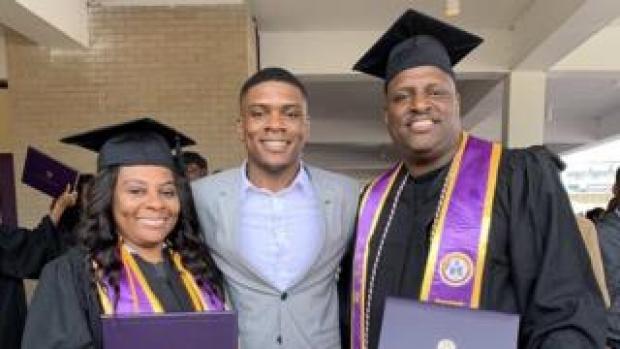 Melody Johnson, Ryan Johnson and Carl Johnson