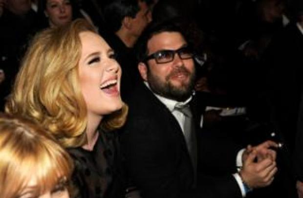 Adele and Simon Konecki at the Grammy Awards in 2013