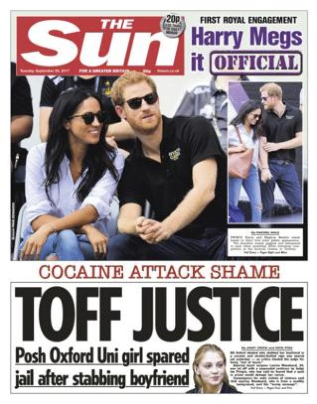 The Sun front - 26/9/17