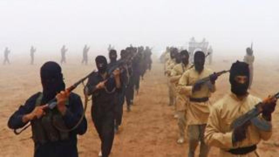 Des combattants de l'État islamique, qui a intensifié ses attaques en Afrique de l'Ouest cette année, notamment au Nigeria et au Niger.