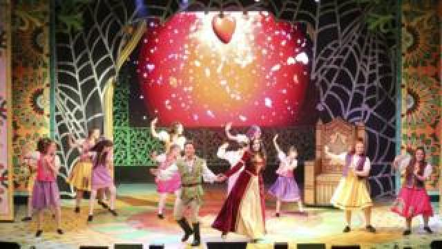 The cast of Robin Hood at The Cresset Theatre in Peterborough