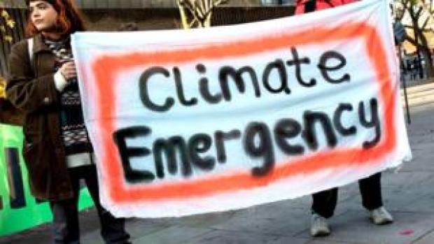 Climate strike banner