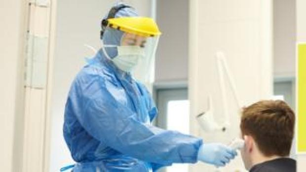 Generic image of medical worker in protective clothing